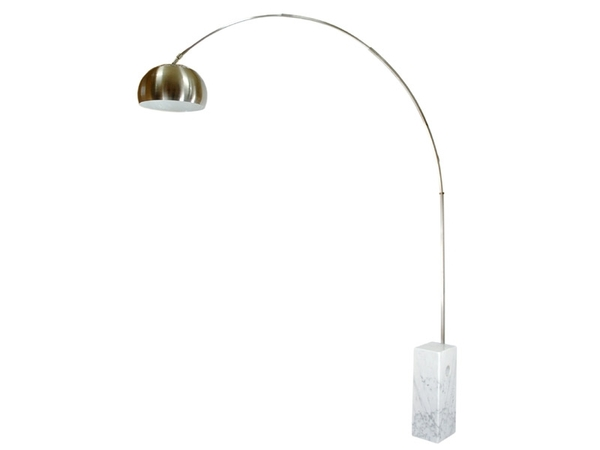 Arco floor lamp - White marble