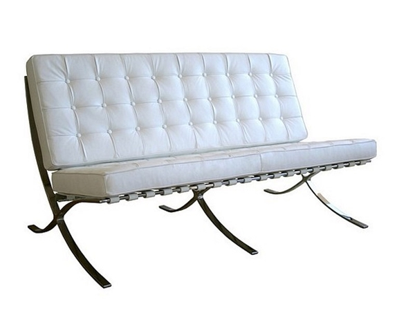 Barcelona sofa 2 seater - White