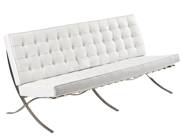Barcelona sofa 3 seater - White