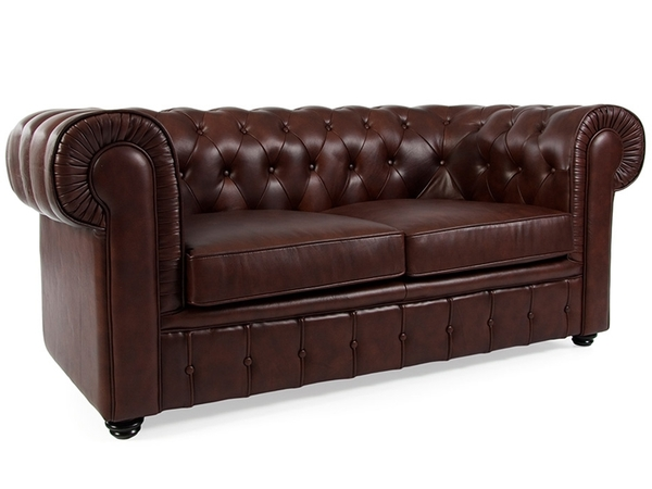 Chesterfield Sofa 2 Seater - Brown