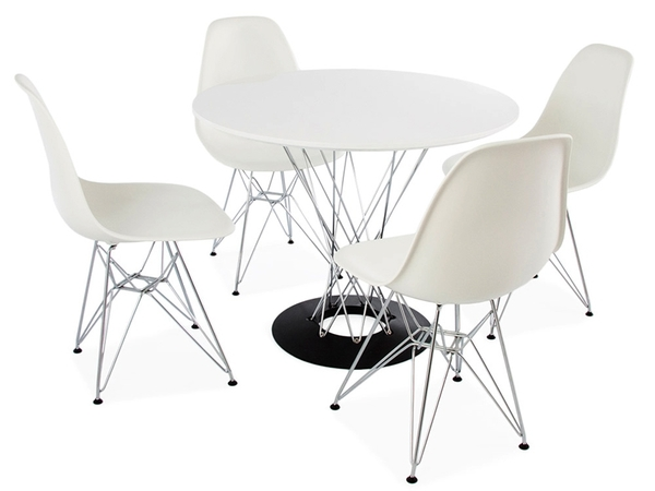 Cyclone table Noguchi & 4 chairs