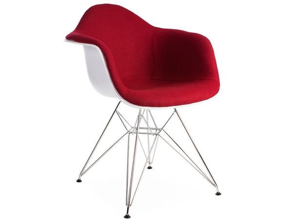 DAR chair wool padded - Red