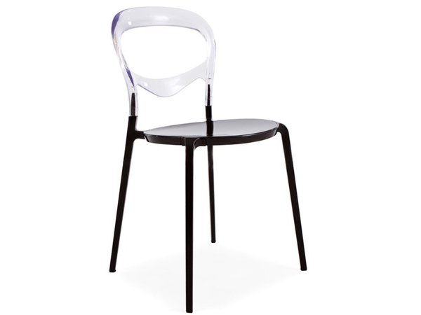 Domino Chair - Transparent/Black