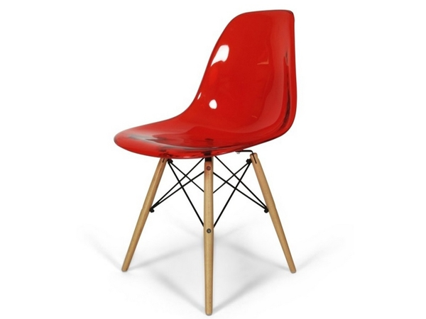 DSW chair - Clear red