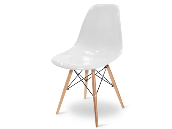 DSW chair - White shiny