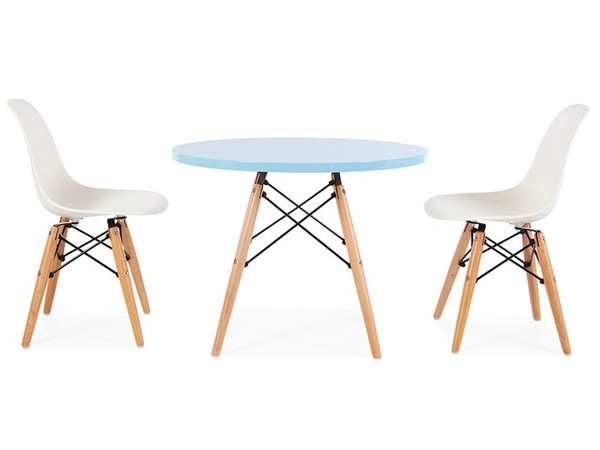 Eames kids table - 2 DSW chairs