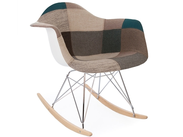 Eames rocking chair RAR - Blue patchwork