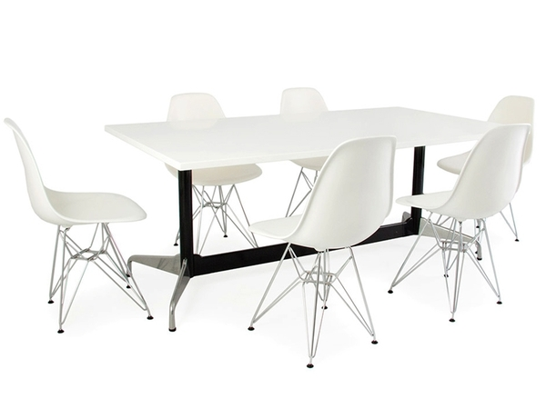 Eames table Contract and 6 chairs