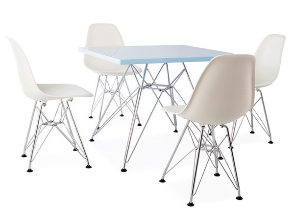 Eiffel kids table - 4 DSR chairs