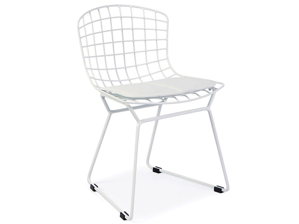 Kids Bertoia Wire Side Chair - White