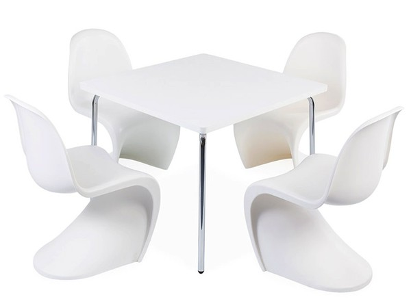 Kids table Olivier - 4 Panton chairs