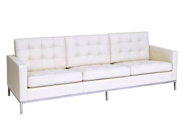 Knoll Lounge  3 Seater - White