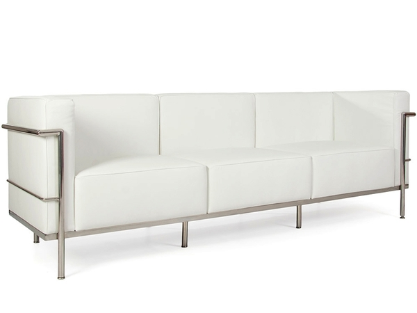 LC2 3 seater Le Corbusier Large - White