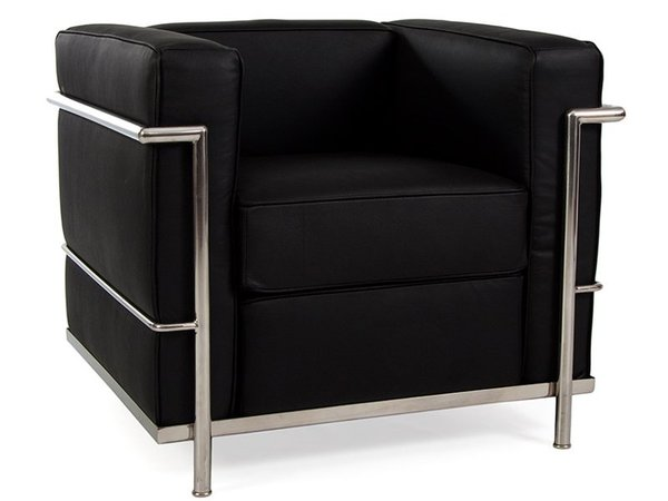 LC2 Chair Le Corbusier - Black