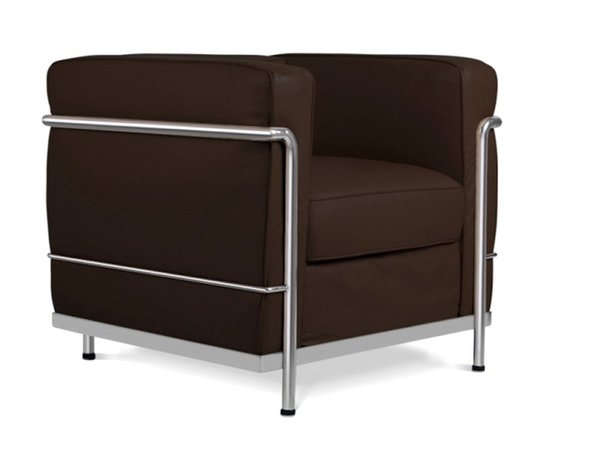 LC2 Chair Le Corbusier-Darkbrown