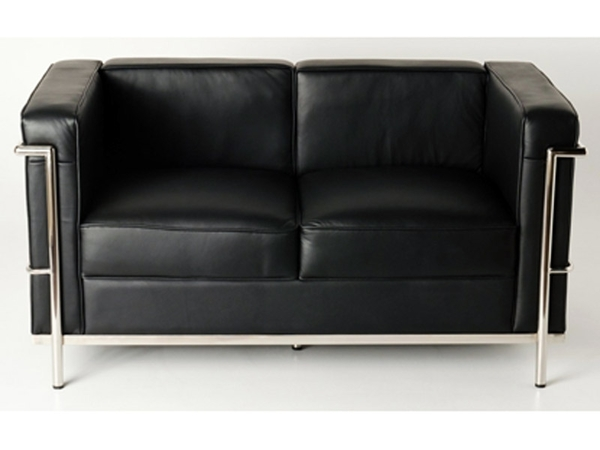 LC2 Le Corbusier 2 Seater  - Black