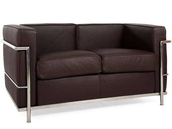 LC2 Le Corbusier 2 Seater - Brown