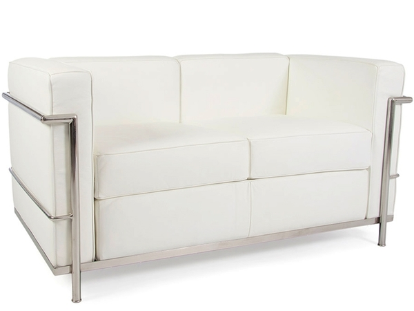 LC2 Le Corbusier 2 Seater - White