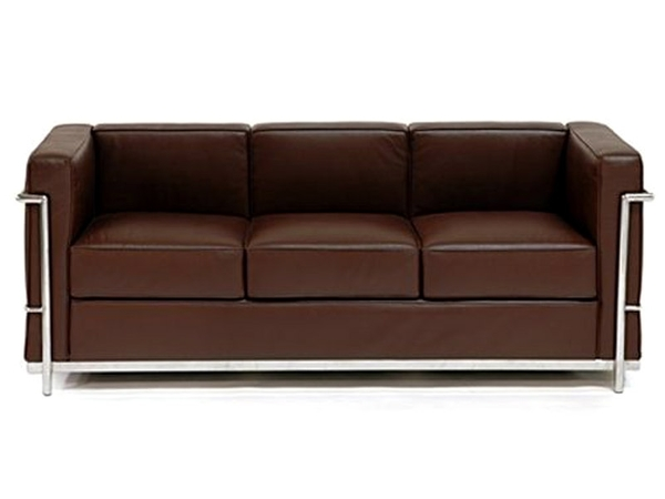 LC2 Le Corbusier 3 seater - Brown