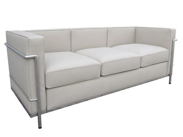 LC2 Le Corbusier 3 Seater - White