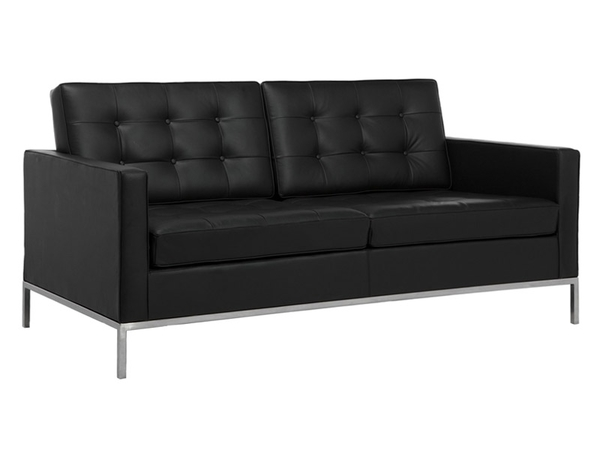 Lounge Knoll 2 Seater - Black
