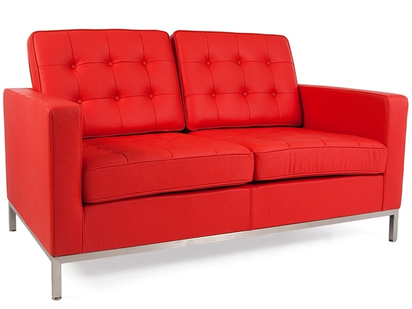 Lounge Knoll 2 Seater - Red