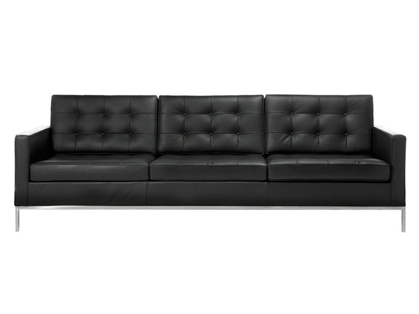 Lounge Knoll  3 Seater - Black