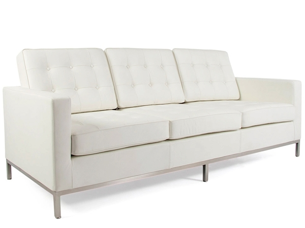 Lounge Knoll  3 Seater - White