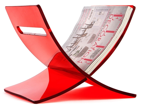Magazine rack The Cross - Red