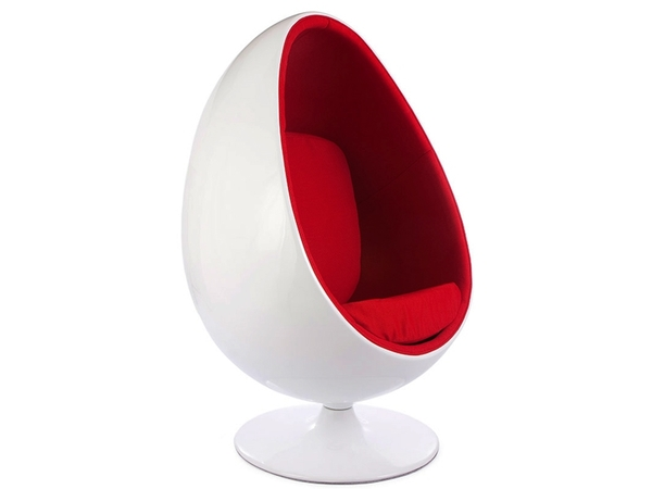 Ovale Egg chair - Red