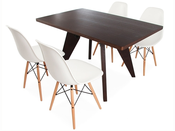 Prouvé table and 4 chairs