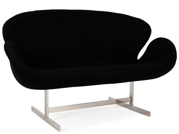 Swan 2 seater Arne Jacobsen - Black