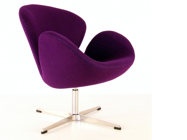 Swan chair Arne Jacobsen - Purple