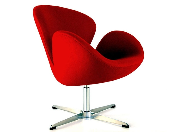 Swan chair Arne Jacobsen - Red