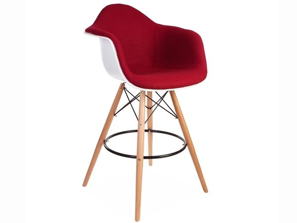 Wool padded DAB bar chair - Rouge