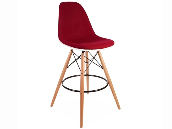 Wool padded DSB bar chair - Red